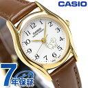 カシオ 腕時計 チープカシオ 海外モデル レディース LTP-1094Q-7B7RDF CASIO ホワイト チプカシ 革ベルト 時計