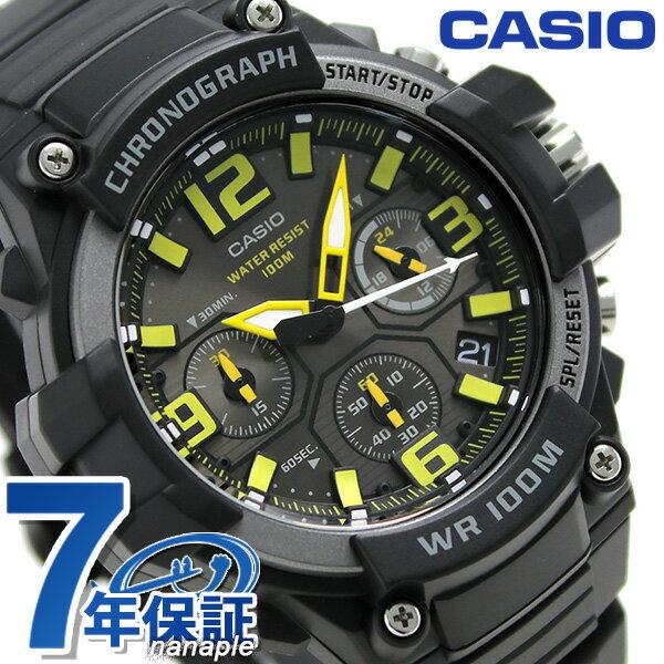 カシオ 腕時計 チープカシオ クロノグラフ 10気圧防水 メンズ MCW-100H-9AVCF ブラック チプカシ