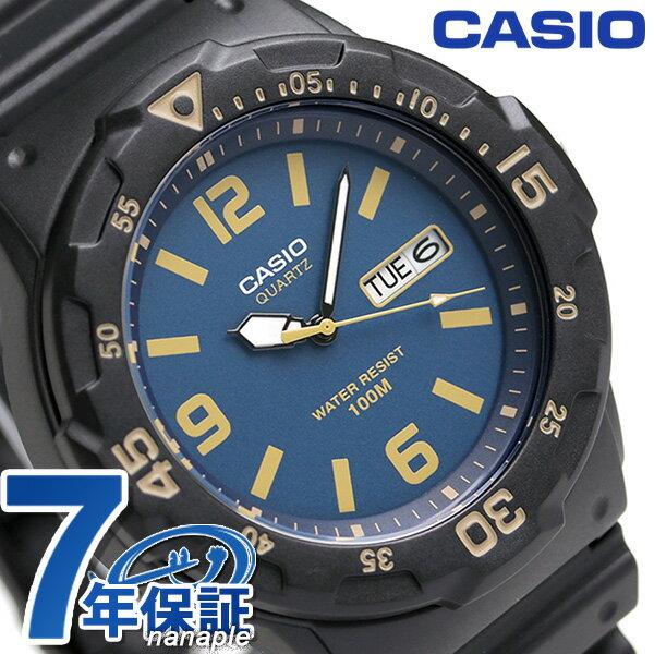 カシオ 腕時計 チープカシオ デイデイト MRW-200H-2B3VDF CASIO ブルー×ブラック チプカシ 時計【あす楽対応】