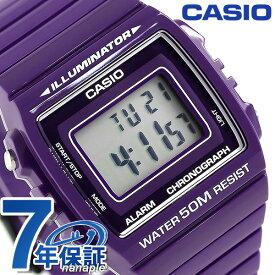 【25日はさらに+13倍で店内ポイント最大51倍】 カシオ 腕時計 チープカシオ ストップウォッチ W-215H-6AVDF CASIO パープル チプカシ 時計【あす楽対応】