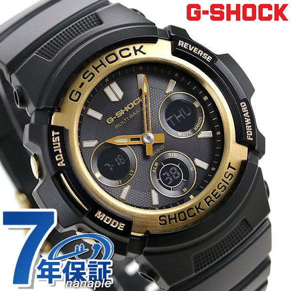 G-SHOCK ブラック&ゴールドシリーズ 電波ソーラー 腕時計 AWG-M100SBG-1AER カシオ Gショック 時計