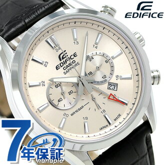 Men watch EFB-504JL-7ADR CASIO beige made in カシオエディフィスクロノグラフ Japan