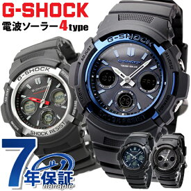 【今なら店内ポイント最大44倍】 G-SHOCK 電波 ソーラー 電波時計 AWG-M100 アナデジ 腕時計 カシオ Gショック ブラック【あす楽対応】