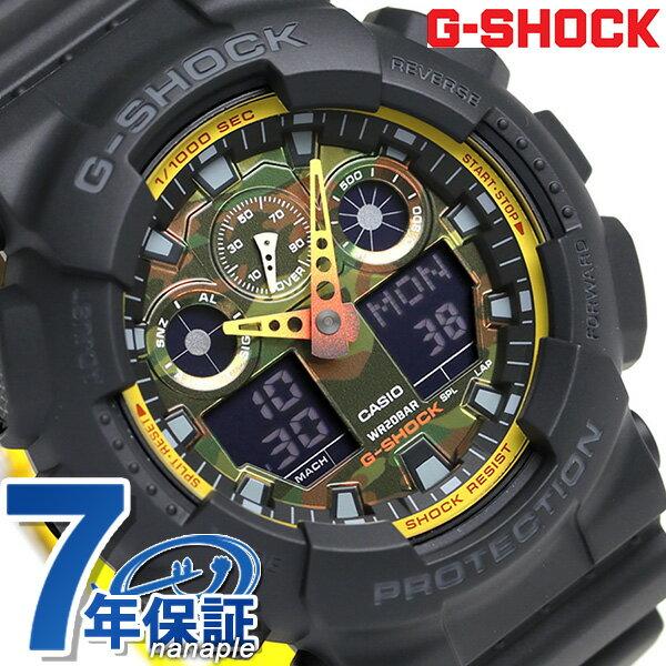 G-SHOCK スペシャルカラー メンズ 腕時計 GA-100BY-1ADR カシオ Gショック ブラック 時計【あす楽対応】