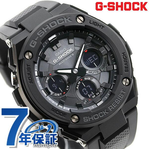 G-SHOCK Gスチール 電波ソーラー オールブラック 腕時計 GST-W100G-1BER Gショック【あす楽対応】