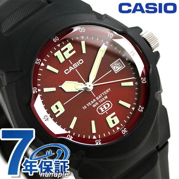 カシオ チープカシオ スタンダード 腕時計 MW-600F-4AVDF CASIO レッド×ブラック