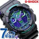 G-SHOCK Gショック アナデジ GA-100 メンズ 腕時計 GA-100BL-1ADR パープル×ブラック カシオ【あす楽対応】
