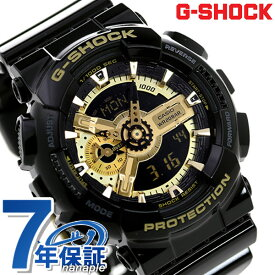 【1日は全品5倍でポイント最大23倍】 G-SHOCK CASIO GA-110GB-1ADR アナデジ 腕時計 カシオ Gショック ブラック × ゴールド 時計【あす楽対応】