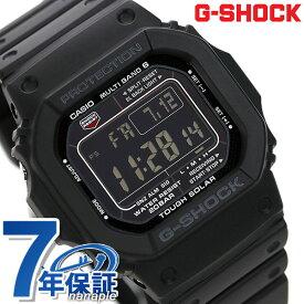 G-SHOCK 電波 ソーラー 5600 黒 ブラック オールブラック デジタル メンズ 腕時計 GW-M5610-1BER カシオ Gショック 電波ソーラー 時計【あす楽対応】