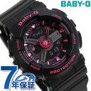 Baby-G レディース 腕時計 クオーツ BA-111-1ADR カシオ ベビーG オールブラック × ピンク 時計【あす楽対応】