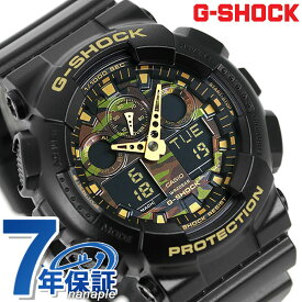 G-SHOCK CASIO GA-100CF-1A9DR メンズ 腕時計 カシオ Gショック カモフラージュダイアルシリーズ ブラック 時計【あす楽対応】