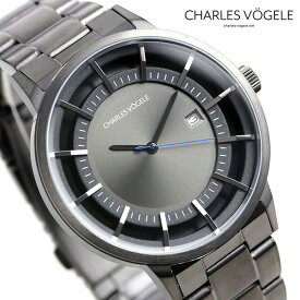 【30日はさらに+4倍でポイント最大27倍】 シャルルホーゲル 時計 M-2シリーズ 41mm デイト メンズ 腕時計 M-2 V0719.G37 Charles Vogele グレーシルバー×ガンメタル