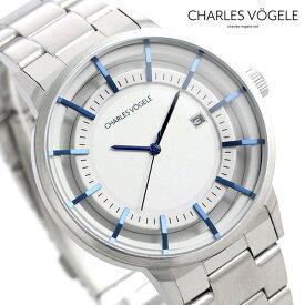 【今なら10%割引クーポン&店内ポイント最大44倍】 シャルルホーゲル 時計 M-2シリーズ 41mm デイト メンズ 腕時計 M-2 V0719.S02 Charles Vogele シルバー【あす楽対応】