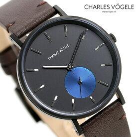 【今なら10%割引クーポン&店内ポイント最大44倍】 シャルルホーゲル 時計 M-3シリーズ 38mm デイト メンズ 腕時計 M-3 V0720.B43 Charles Vogele ブラック×ダークブラウン【あす楽対応】