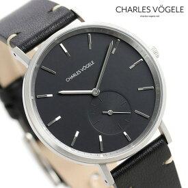 【今なら10%割引クーポン&店内ポイント最大44倍】 シャルルホーゲル 時計 M-3シリーズ 38mm デイト メンズ 腕時計 M-3 V0720.S03 Charles Vogele ブラック【あす楽対応】