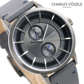 【今なら10%割引クーポン&店内ポイント最大44倍】 シャルルホーゲル 時計 M-4シリーズ 41mm デイデイト メンズ 腕時計 M-4 V0721.G37 Charles Vogele グレーシルバー×グレー【あす楽対応】