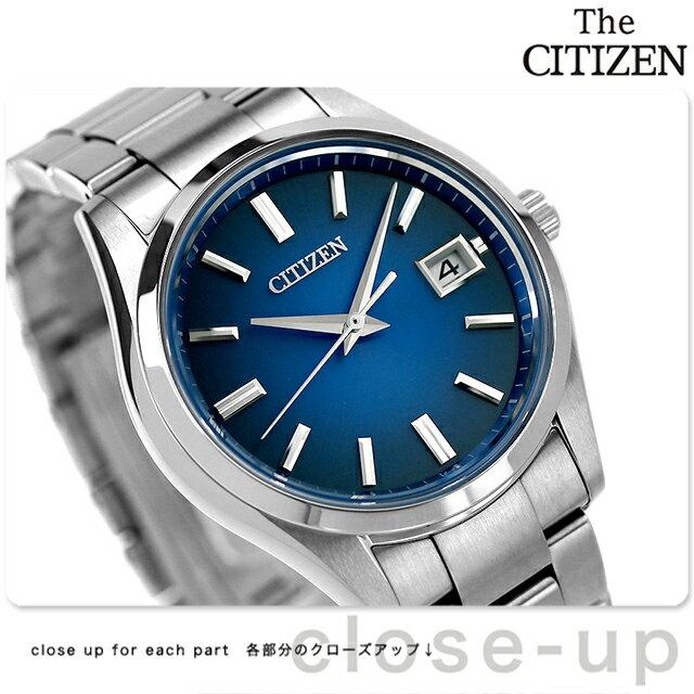 ザ・シチズン 3針デイト スタンダードモデル ソーラー AQ4000-51L THE CITIZEN 腕時計 ブルー 時計