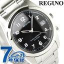 シチズン REGUNO レグノ ソーラーテック電波時計 ブラック/アラビア RS25-0481H【楽ギフ_包装】
