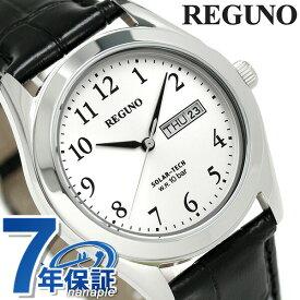 【20日は全品5倍でポイント最大22倍】 シチズン レグノ スタンダード リングソーラー 腕時計 KM1-211-10 CITIZEN REGUNO シルバー×ブラック 時計