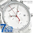【1000円OFFクーポン付】ck カルバンクライン シティ クロノグラフ 43mm スイス製 K2G271.Z6 ck Calvin Klein 腕時計