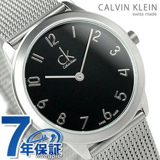 ck karubankuraimminimarumidiamu手表K.3M521.51 ck Calvin Klein石英黑色