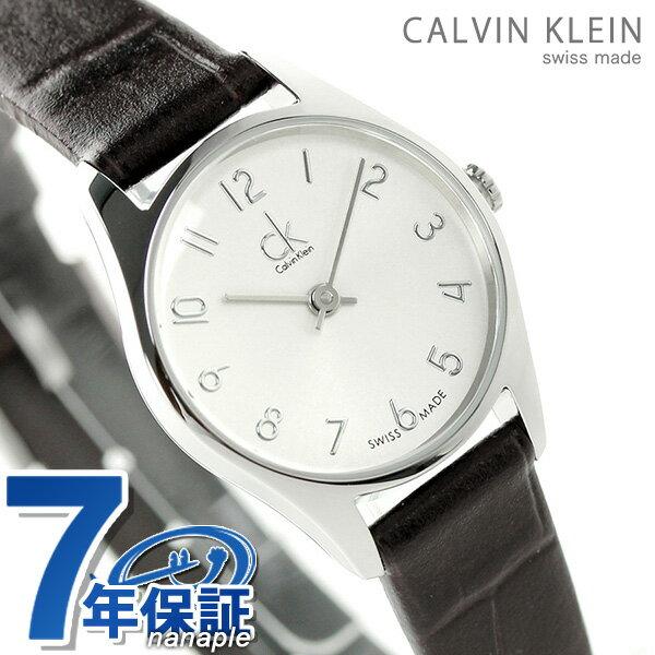 カルバンクライン クラシック クオーツ レディース 腕時計 K4D231G6 シルバー×ブラック 時計【あす楽対応】