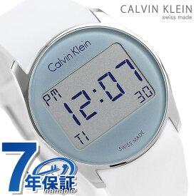 今なら店内ポイント最大49倍! カルバンクライン 時計 メンズ レディース 腕時計 デュアルタイム デジタル 38.5mm ホワイト K5B23UM6 フューチャー CALVIN KLEIN カルバン・クライン【あす楽対応】