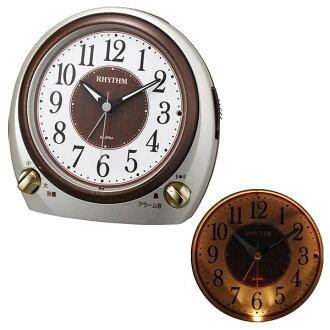 Clock rhythm table clock alarm quartz 8RA641SR18 RHYTHM