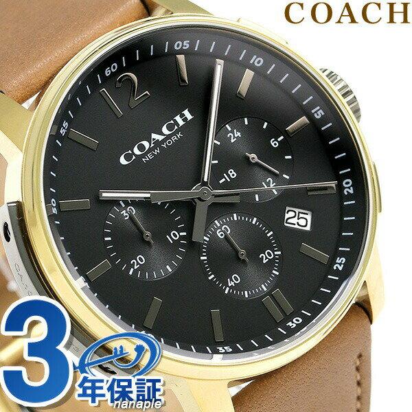 コーチ 時計 メンズ COACH 腕時計 ブリーカー クロノグラフ クオーツ 14602016 ブラック