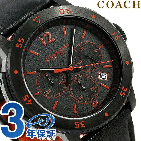 コーチ 時計 メンズ COACH 腕時計 ブリーカー スポーツ 44mm クロノグラフ 14602024 ブラック【あす楽対応】