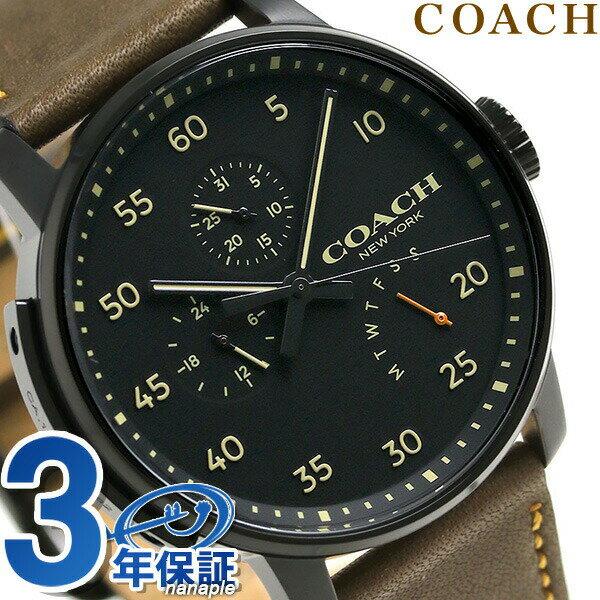 コーチ 時計 メンズ COACH 腕時計 ブリーカー マルチファンクション 42mm 14602339 革ベルト【あす楽対応】