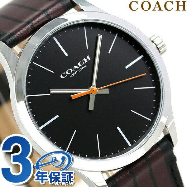 コーチ 時計 メンズ COACH 腕時計 ブリーカー 39mm 革ベルト クオーツ 14602367 ブラック【あす楽対応】