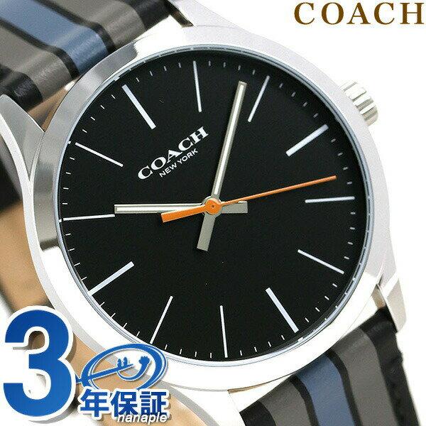コーチ 時計 メンズ COACH 腕時計 ブリーカー 39mm 革ベルト クオーツ 14602368 ブラック【あす楽対応】