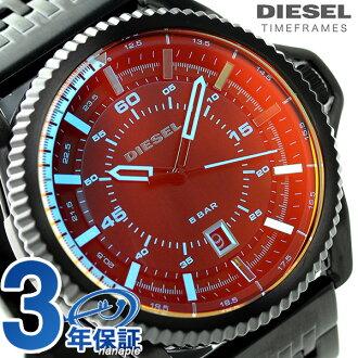 DZ1720柴油人手錶角色盒石英全部黑色DIESEL