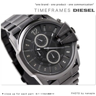 Diesel watch DIESEL men's watches chronograph metal all black DZ4180