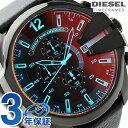 DZ4323 ディーゼル メガ チーフ クロノグラフ メンズ 腕時計 DIESEL クオーツ オールブラック レザーベルト