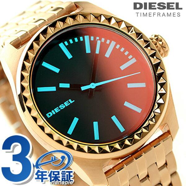 ディーゼル 時計 レディース DIESEL 腕時計 DZ5451 クレイ クレイ ブラック × ローズゴールド【あす楽対応】