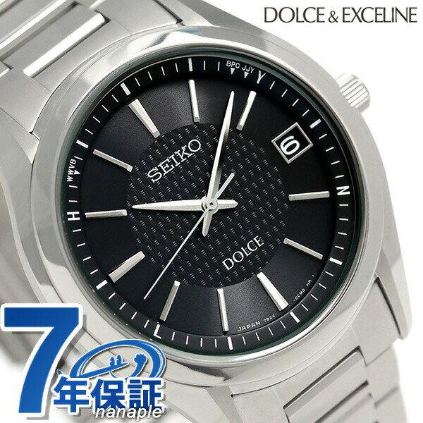 【1000円割引クーポン 20日9時59分まで】 セイコー ドルチェ 電波ソーラー メンズ 腕時計 SADZ187 SEIKO DOLCE ブラック