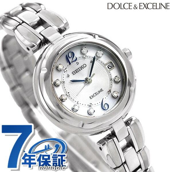 セイコー ドルチェ&エクセリーヌ 日本製 電波ソーラー SWCW121 SEIKO 腕時計 チタン シルバー 時計【あす楽対応】
