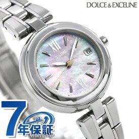 セイコー ドルチェ&エクセリーヌ チタン 日本製 電波ソーラー SWCW133 SEIKO 腕時計 ブルーシェル