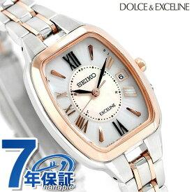 7230f1b1435f セイコー ドルチェ&エクセリーヌ トノー型 チタン 電波ソーラー SWCW136 SEIKO レディース 腕時計 時計