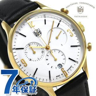 Men DF-9002-04 watch white made in DUFA ドゥッファミースクロノグラフ 38mm Germany