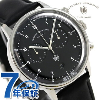 Men DF-9003-01 watch black made in DUFA ドゥッファハンネスクロノグラフ 40mm Germany