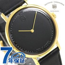 DUFA ドゥッファ ヴォルター グロピウス 38mm メンズ 腕時計 DF-9020-01 ブラック 時計