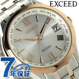 シチズン エクシード 電波ソーラー CB1084-51A CITIZEN EXCEED 腕時計 チタン シルバー×ピンクゴールド 時計