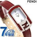 フェンディ カメレオン クオーツ レディース 腕時計 F317024073D1 FENDI ホワイト×ワインレッド 時計