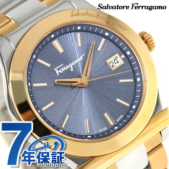 Ferragamo 1898石英人手表FF3240015 Salvatore Ferragamo蓝色×黄金