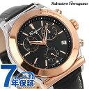 フェラガモ 1898 クロノグラフ スイス製 クオーツ メンズ FH6030016 Ferragamo 腕時計 ブラック
