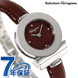 フェラガモガンチーニ 25.5mm Lady's watch FII040015 Salvatore Ferragamo brown