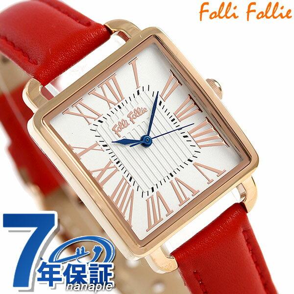 フォリフォリ レトロ スクエア クオーツ レディース 腕時計 WF16R012SPSDR Folli Follie